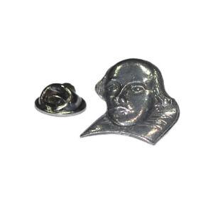 William Shakespeare Pewter Lapel Pin Badge XWTP012