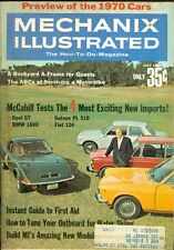 1969 Mechanix Illustrated Magazine: Opel GT/BMW 1600/Datsun PL 510/Fiat 124