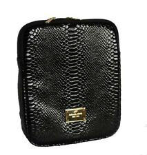 MICHAEL KORS Black Leather PYTHON / SNAKESKIN iPAD Padded Sleeve Case NEW DISC