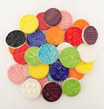 "Circle Mosaic Tiles - 1"" Multi Colored"