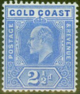 Gold Coast 1907 2 1/2d Blue SG62 V.F Very Lightly Mtd Mint