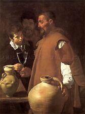 Pintura Old Master Agua vendedor Sevilla Diego Velázquez España Cartel lv2668