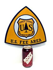 """Small Vintage US Forest Service/Department Of Agriculture FEE AREA SIGN 10.25"""""""