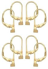 4 Pairs Gold over Sterling Silver Earring Converters Convert Post to Leverback