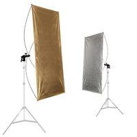 Reflektorpanel Fotostudio-Reflektor Faltreflektor Aufheller gold-silber 90x180cm