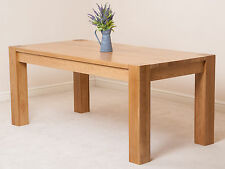 Kuba Solid Oak Wooden Large 180cm Fixed Dining Room Table Kitchen Furniture