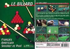 DVD Le billard : Pool, Snooker, Français, Américain  - Billard - Sport Loisirs