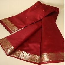 Sari TEXTILE ROBE BOLLYWOOD Costume de carnaval RIDEAU Coupon de tissu rouge 23