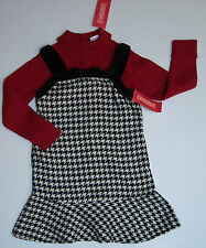 NWT Gymboree Holiday Friend 4 4T Houndstooth Jumper Dress & Turtleneck Sweater