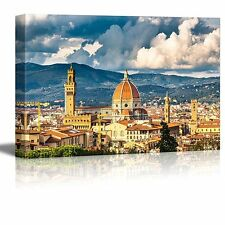 """Canvas Prints Wall Art - View on Florence and Duomo Cathedral, Italy - 16"""" x 24"""""""