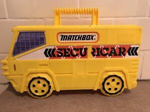 Vintage 1988 Matchbox Securicar Carry Case