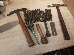 Vintage Leather Working Tools C S Osborne Punches. Pinking,  awl, Stanley tack