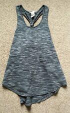 **H&M**Age 10-12y**Black Marl Muscle Back Gym/Running Vest Top**VGC**