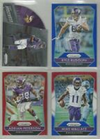 Minnesota Vikings 4 card 2015 Panini Prizm insert & PRIZMS lot-all different