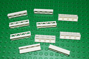 LEGO short barrier fence WHITE 1x4 (pack of 10) for a house  PART 3633