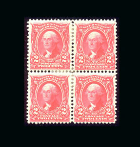 US Stamp Mint OG & Hinged, VF/XF S#301 Block of 4, Extremely deep rich color, 3