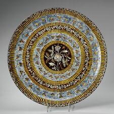 A circa 1900 THOUNE, THUN Majolica Plate with floral decor