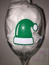 x10 ELF HATS Festive Vinyl Decal Sticker DIY Christmas Glitter Wine Glass