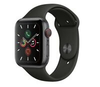Apple Watch Gen 5 Series 5 Cell 44mm Space Black Aluminum - Black Sport Band