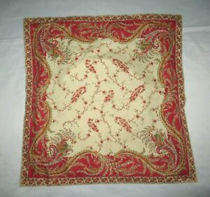 RALPH LAUREN MIRABEAU Euro pillow sham red paisley out of package