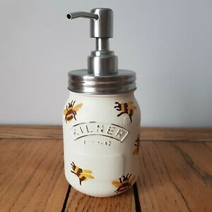 Emma Bridgewater Themed Soap Dispenser Bumble Bee Pattern Decoupage Kilner Jar