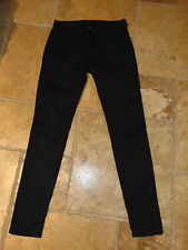 KUT from the Kloth MIA TOOTHPICK SKINNY Black Textured Denim JEANS Size 0