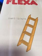 FLEXA 4 STEP WHITE WASH LADDER FOR BUNK BEDS, FLEXA #71481414 / #80017022 NIB!