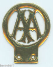 AA 1906 STYLE BRASS CAR BADGE   (N669)               (I always combine shipping)