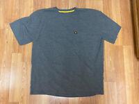 Caterpillar T shirt Men's 2XL CAT Short Sleeve Pocket  Logo Tee T- Shirts Gray