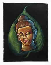 Batik tissu de Bouddha  peint 70x52cm fait main  20