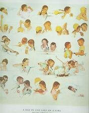 DAY IN LIFE OF GIRL Norman Rockwell Poster Print 1952