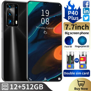 P40 Plus 7.7 Inch Android 10 Smartphone 2SIM Unlocked Mobile Phone 12GB + 512GB