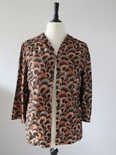 Vintage 1960s Lightweight Evening Jacket GOLD Bronze Retro Cocktail Party Top M