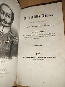 Rare, Curiosité Le Confucius Français Par J.Vinet 1845 Livres Anciens Collection