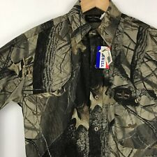 Flint River Mens Camo Shirt Vented Long Sleeve Shooting Pad Hunting USA Size S