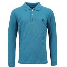 Camisas de niño de 2 a 16 años manga larga color principal azul