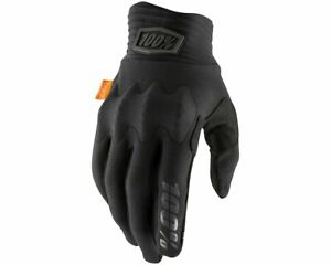 New 100% Cognito Gloves, Black/Charcoal, Small, 10013-057-10