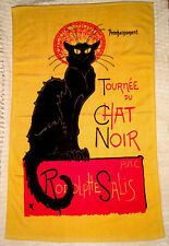 NEW FRENCH BLACK CAT TOWEL CHAT NOIR HAND BATH 100% COTTON SHIP FROM USA 37x23in