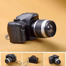 Newest Mini Cute SLR Camera Shape Keychains With Flash Light Luminous LED Decor