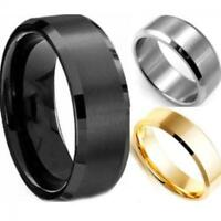 Men New Bridal Valentine Gift Band Stainless Steel Ring Titanium Jewelry