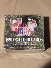Vintage 1991 Pro Set Golf Box PGA Tour Cartes John Daly RC Snead Nicklaus Singh