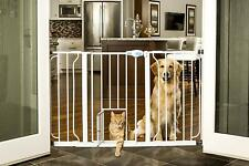 """New listing Carlson Dog Gate Slide Small Pet Door 50"""" Expandable Stand 41"""" Tall White 0945pw"""