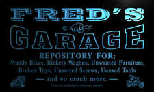 pp070-b Fred's Garage Repair Shop Room Bar Beer Neon Light Sign