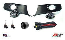 Brand NEW VW Caddy Touran 2010+ FOG LIGHT Griglia Kit + CABLAGGIO + INTERRUTTORE dei fari anteriori