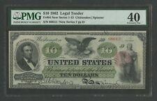 FR94 $10 1862 L.T. PMG 40 CHOICE XF TINY PINHOLE UNIQUE 72 RECORDED WLM9658