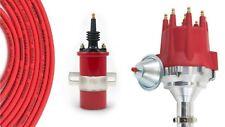 Billet Distributor 8.5mm Red Spark Plug Wires Coil 1977-1982 Ford 351M 400 V8