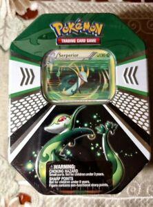 Pokemon Serperior Evolved Battle Action Fall Tin (2011) - Vintage Booster Packs