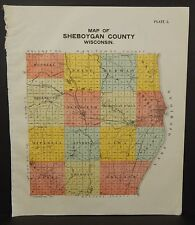 Wisconsin Sheboygan County Map 2 Single Pgs 1902 J22#07