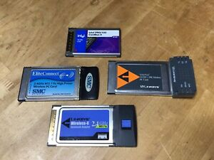 PCMCIA Cards - Network WiFi - Intel Linksys SMC Some Work Perhaps All - Computer