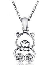 Teddy Bear Sterling Silver Pendant